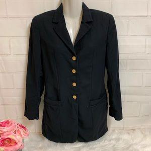 Salvatore Ferragamo Blazer Jacket Black Lined
